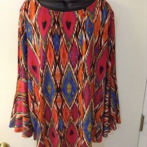 New Directions 1X multi colored long top
